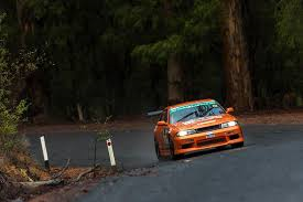 Car rally driving in the Southern Forests